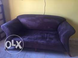 turkish style chocolate brown sofa in throw away price in azaiba