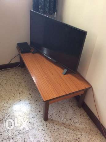 Television with table