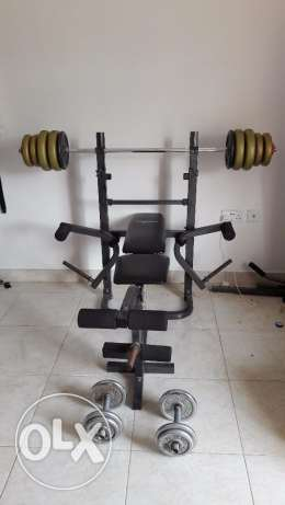 Bench with weights مطرح -  3