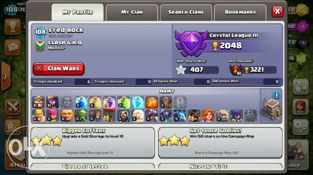 clash of clans th 9 mid max