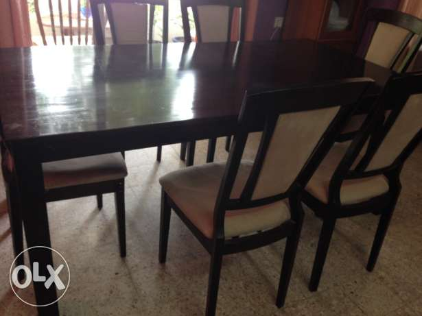 Dining table with 6 chairs القرم -  1
