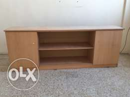 TV stand as well as book shelves