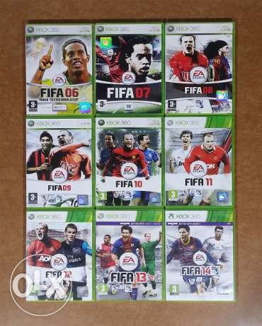 Bundle of 9 FIFA Games - 06 to 14 - Xbox 360 - 07, 08, 09, 10, 11, 12,