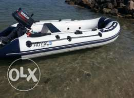 inflate boat for sale with engine 5hp قارب قابل لنفخ والطي
