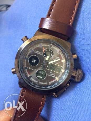 AMST -100ft water resist with leather bracelet مسقط -  2