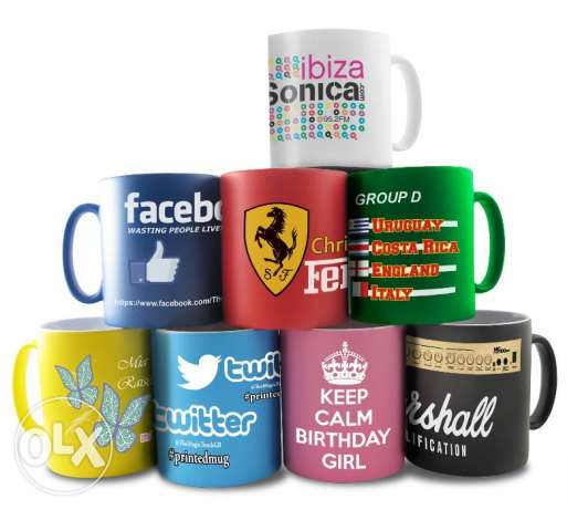 Personalized printing on Mugs, Plates, T shirts, and Caps in Al Khuwai
