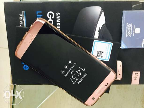 S7 edge limited edition Rose Gold hardly used .