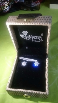 Diamond earrings Offer with Ladies Watch for Women