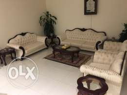 7 seater living room sofa set w/ Center table & 2 side table for sale