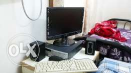 Desktop with 20 inch screen monitor