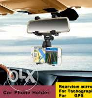 Phone holder mirror side.