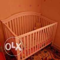 Baby bed when mattress from center point