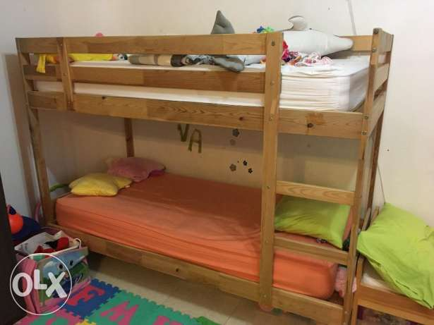 Double bed for kids with 2 mattress - Expat leaving Oman