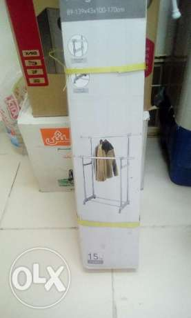 Used Clothes stand ( Dual) with wheels 9 RO