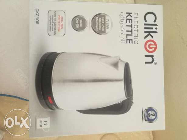 Clickon Electric Kettle 1.7 Ltr Never Used