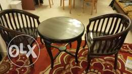 Tea Table and Chairs - Solid Wood
