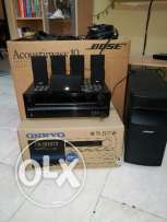 Bose acoustimass 10 series iv with onkyo amplifier for sale