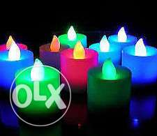 led candles with FREE battery-colour changing مسقط -  4