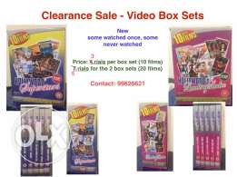 2 New video box sets, 10 films each for sale, 3 OMR each or 5 OMR both