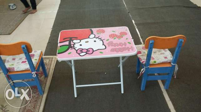 Kids text and reading table