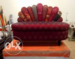 Two seater bedroom couch. unused. factory piece