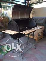 custom oil drum BBQ