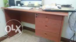 wooden computer/office table with revolving chair