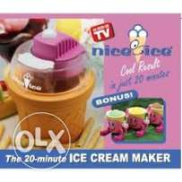 mini electrical ice cream maker with 2 cups