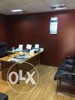 fully furnished showroom + office space