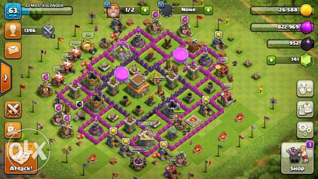 clash of clans IOS account for sale