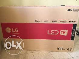 LED TV 43 inches not opened