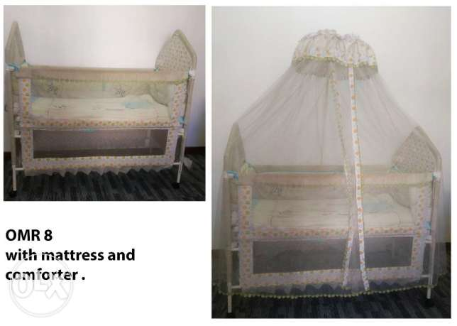 Crib, bouncer and walker for sale- 2 years old مسقط -  1