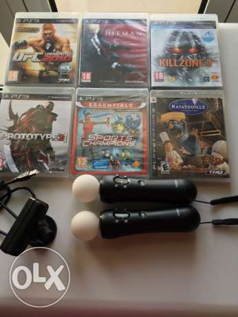 6 new Games PS3 + PlayStation move & camera(Newly bought & not needed