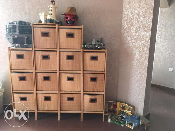 Bamboo Drawers Cabinet