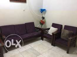 5 seater wooden sofa for sale (3+1+1)