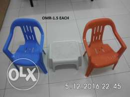 6 month used chair and stool