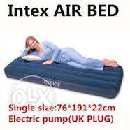 intex air flock bed with PUMPING machine- SPECIAL OFFER-76CM X 191CM