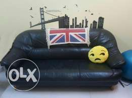 Thick leather sofa for sale