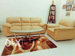 Leather sofa 3+1 seater