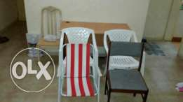 Used table and chair set for sale