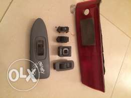 Toyota Camry 1998 back light window switch and mirror switch and jeck
