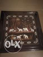Good quality picture with solid wood and intricate pictures