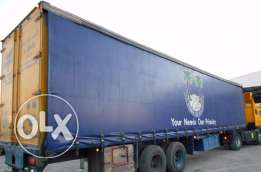 Curtain Side Trailer Available