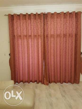 Curtain with holder ( Window size 270 x 260 cms)