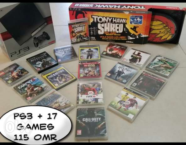 PS3 + 17 Games