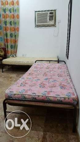 Two MS Steel Single Bed Without Mattress