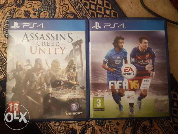 Fifa 16 and assassin's creed unity in