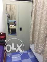 Steel cupboard with miror and locker facility