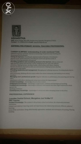 For Primary School Teacher Job
