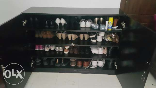 Shoe cabinet with matching stool